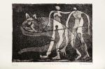 comadres submarinas, 20x 15 cm, etching on metal, 10 copies